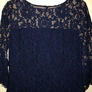 Lauren Ralph Lauren Dresses - Lauren Ralph Lauren Navy Lace 3/4 Sleeve Dress